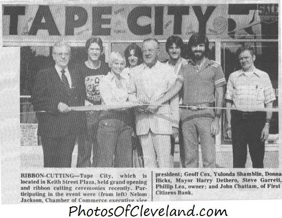 1977 Grand Opening And Ribbon Cutting Ceremonies For Tape City, 127 Keith  St. Plaza, Cleveland TN [Cleveland Daily Banner Photo Circa 1977]
